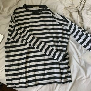 Zara Striped Oversized Long Sleeve